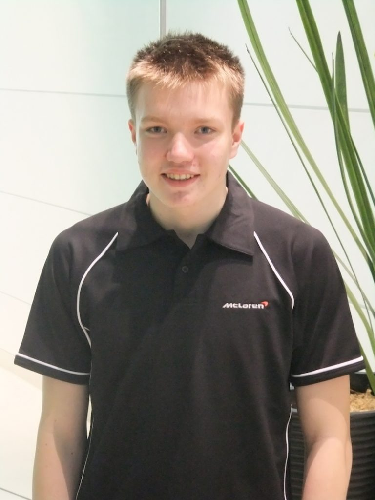 Formelsport: Benjamin Mazatis in der McLaren Performance Academy 2014